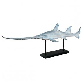 Sawbill Shark On Metal Base