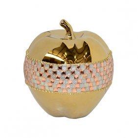 Rose Crystal & Gold Apple