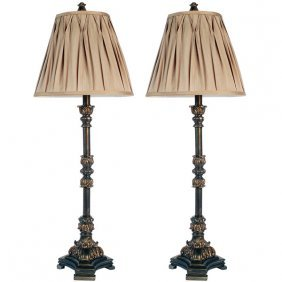 Pleated Buffet Lamp Set Of 2