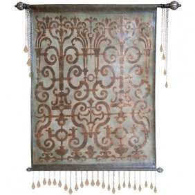 Rock Crystal Leather Tapestry