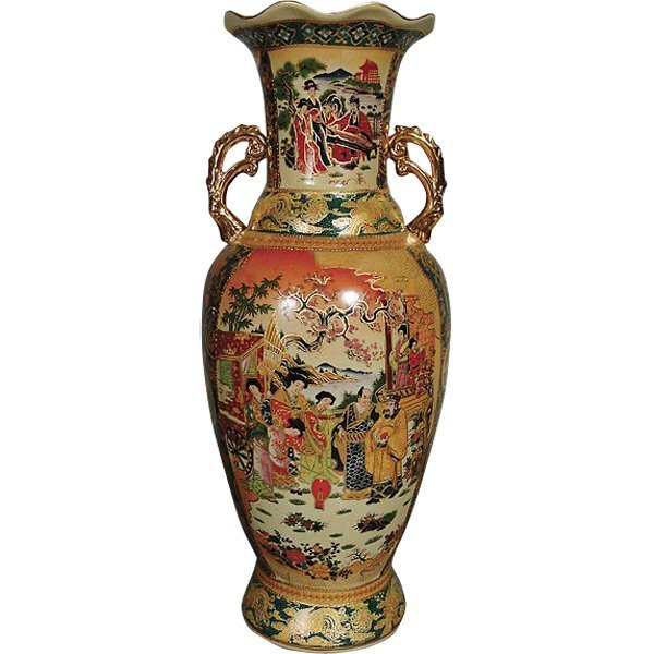 *PO*Imperial Geisha Vase wHand          FREE SHIPPING