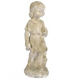Garden Child With Flowers Free Shipping