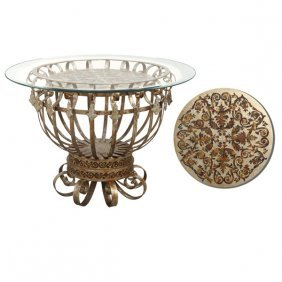 Silver Scroll Center Table Free Shipping