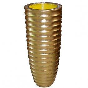 Ringed Vase - Gold Free Shipping
