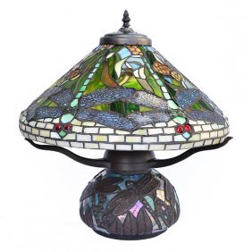 Dragonfly Mosaic Table Lamp Free Shipping