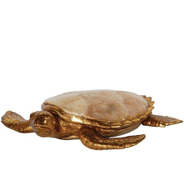 Golden Capiz Turtle          FREE SHIPPING