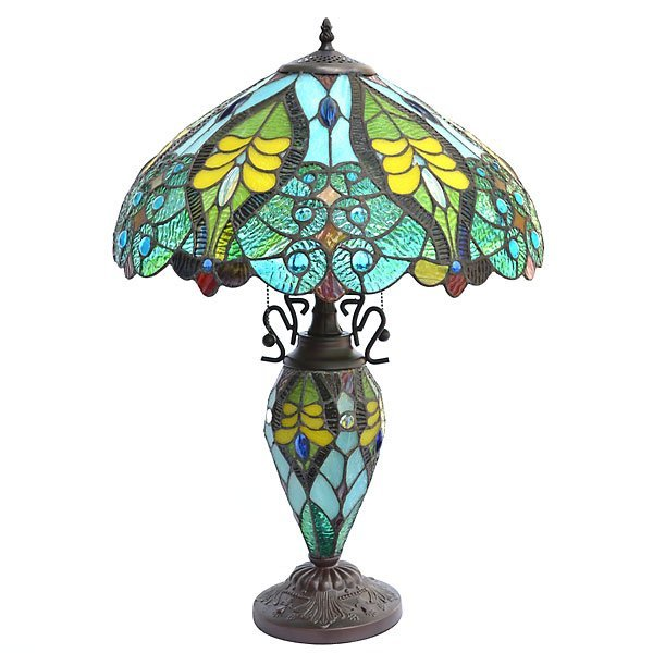 Turquoise Ripple Lamp          FREE SHIPPING