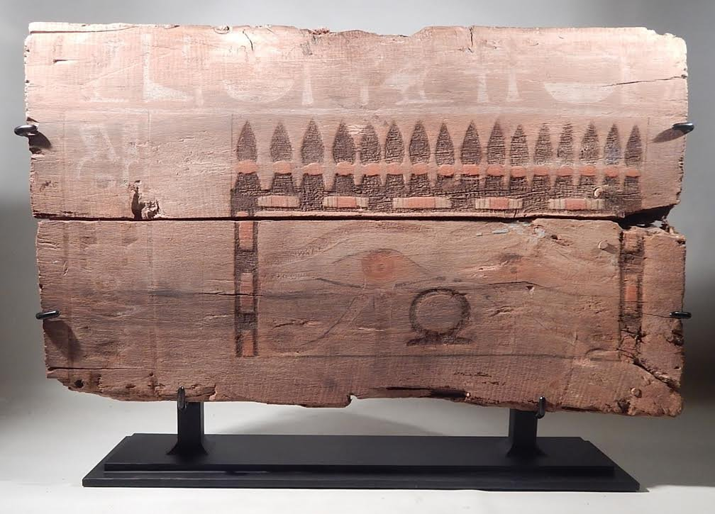 EGYPTIAN ARTIFACT MIDDLE KINGDOM PANEL 2000BCE W/STAND