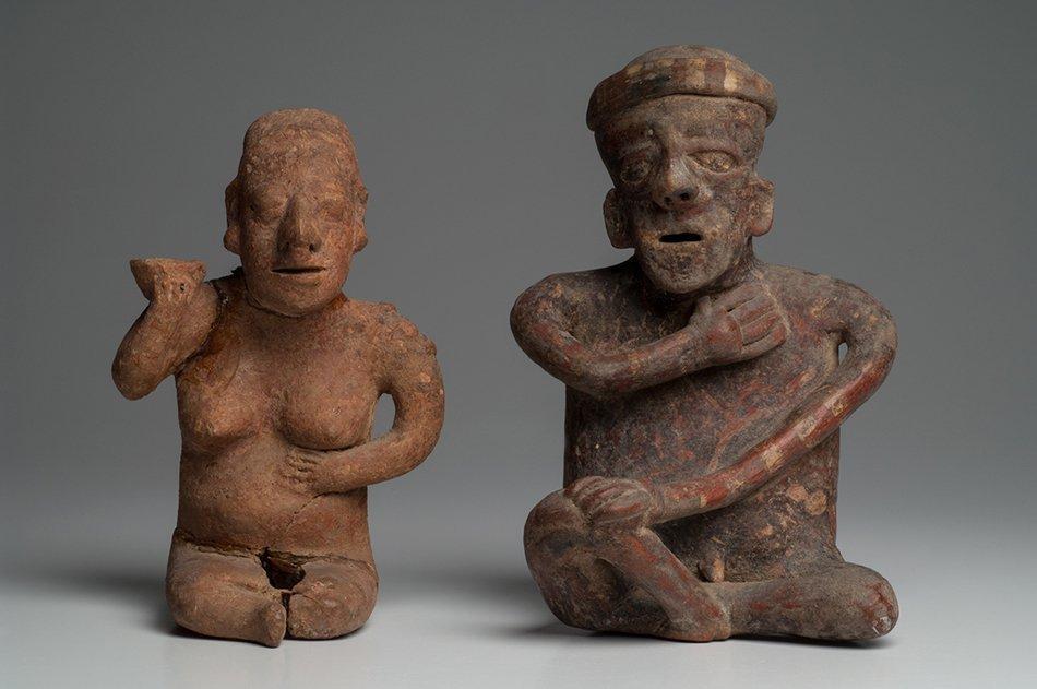 PRECOLUMBIAN NAYARIT COUPLE ANCIENT ARTIFACT SCULPTURE