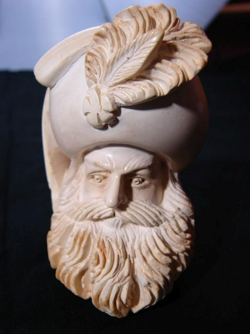 Unknown carver Meerschaum Pipe, Man with Big Beard and