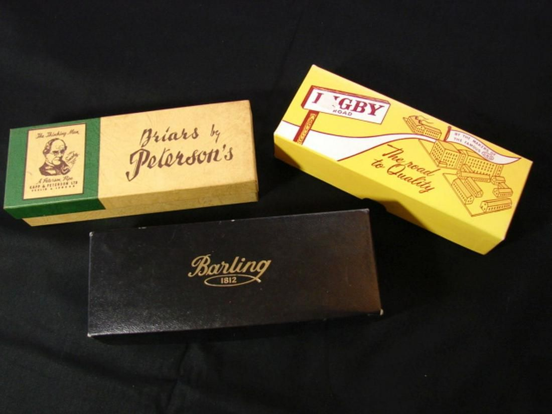 Barling, Digby, and Peterson's Boxes w/ Pipe Socks plus