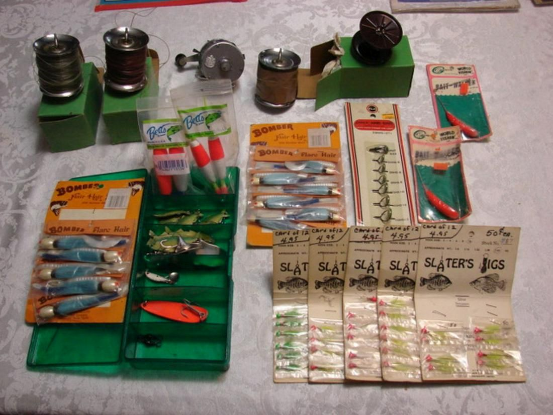 Fishing Reel, Spools, Lures, and Accessories