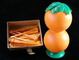 Plastic Orange Screwdriver Shaker W/ Smirnoff Vodka