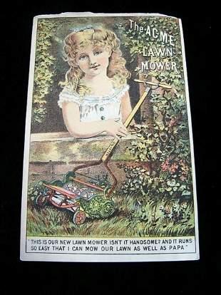 The Acme Lawn Mower Advert, Paper Ephemera