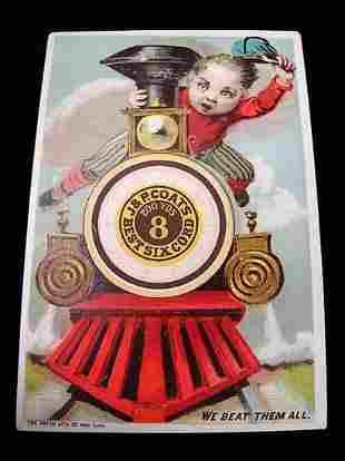 J&P Coats Best Six Cord Spool Cotton Advert, Paper