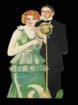 Don and Betty Die Cut Bridge Card Advert, Paper