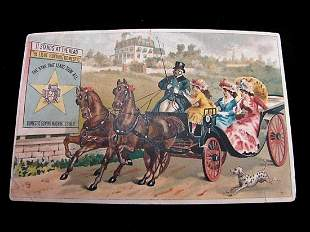 Domestic Sewing Machine Co. Dalmation Chasing a Horse