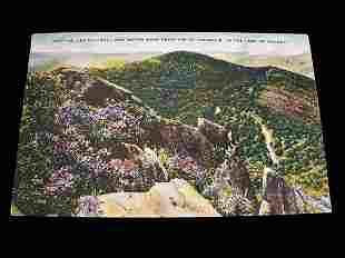 Mount Mitchell Post Card with Color Vista and
