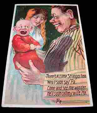 Lot of three embossed full color humorous postcards.