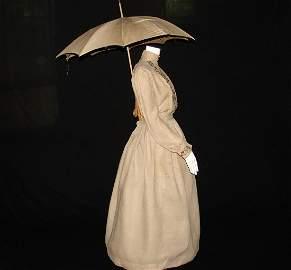 Edwardian Natural Linen Cotton 2 Piece Bustle Skirt