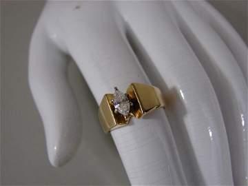 14K Marquee Diamond Ring VS2