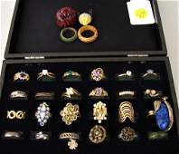 Large lot of Ladies Costume Jewelry Rings