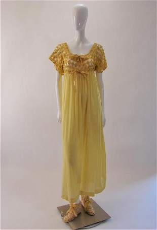 1910 Vintage Nightgown or Dress & Slippers