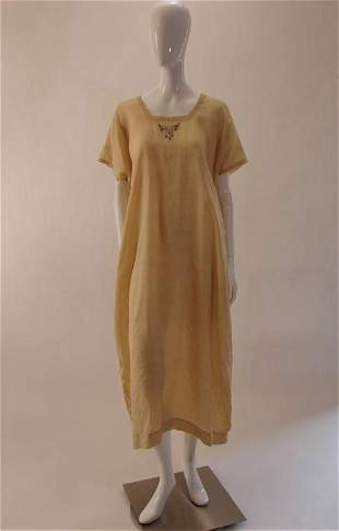 Vintage Gold Silk Nightgown or Dress, 1920s