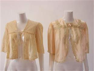 2 1930s Lingerie Bed Jackets