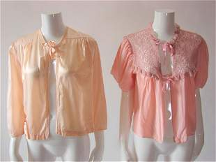 2 1930s-40s Rayon Lingerie Bed Jackets