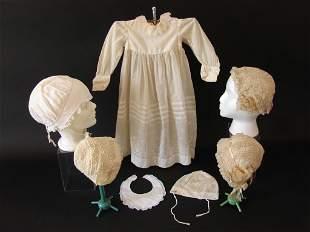 Antique Bonnets Boudoir Caps, Adult and Baby