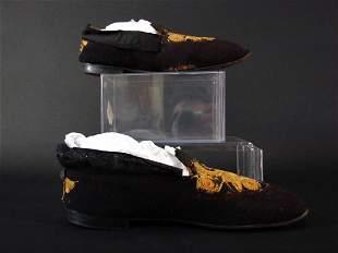 Pair of Vintage Art Nouveau Shoe Slippers