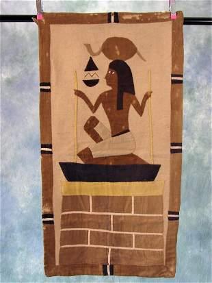 1920s Egyptian Panel Tapestry