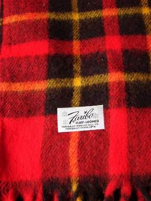 2 Vintage Red Wool Blankets
