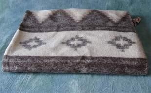 Vintage Alpaca Wool Blanket, Peru