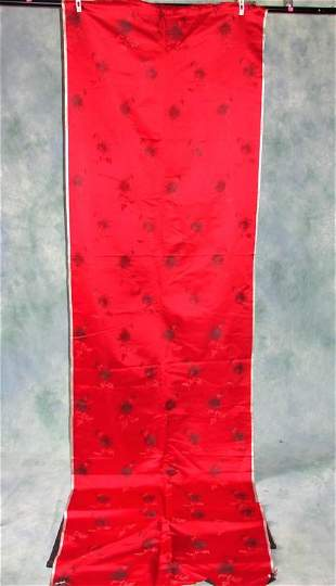 Vintage Red Silk Patterned Material