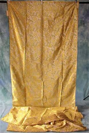 Vintage Gold Metallic Fabric Yardage