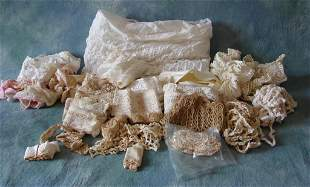 Large Lot of Vintage and Antique Lace