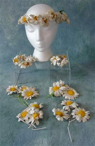 Large Lot Of Millinery Flowers