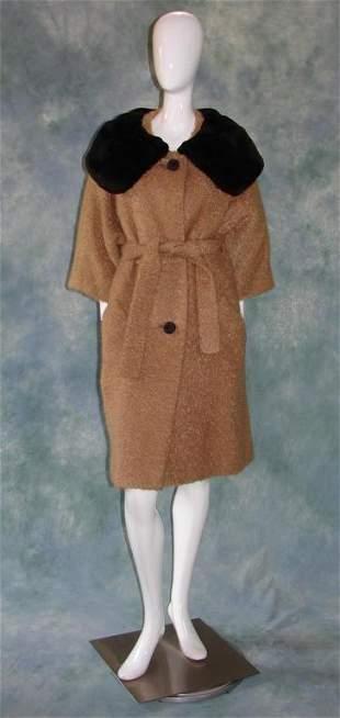 1950s Boiled Wool Ladies Coat