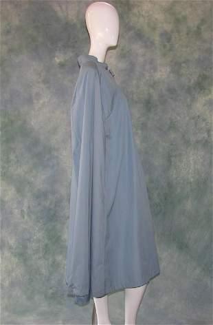 Vintage Blue Winter Raincoat Cape