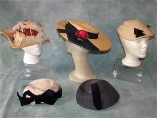5 Hats 1930-1940s