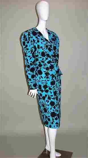 Adele Simpson 2 Pc Silk Suit