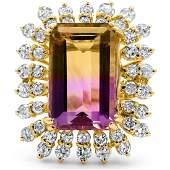 11.90cttw Ametrine with 2.00cttw Diamonds 14KT Yellow