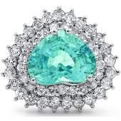 5.70cttw Pariba Tourmaline with 1.62cttw Diamonds 14KT