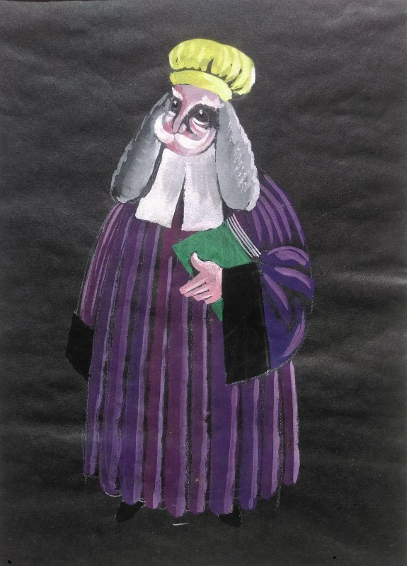 RUSSIAN SCHOOL costume design gouache