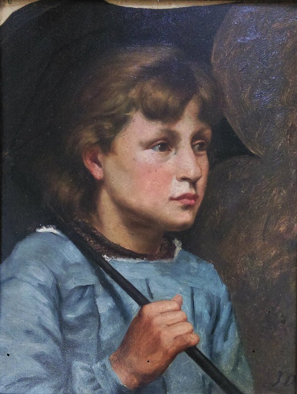 Portrait painting BELGIAN SCHOOL , around 1900