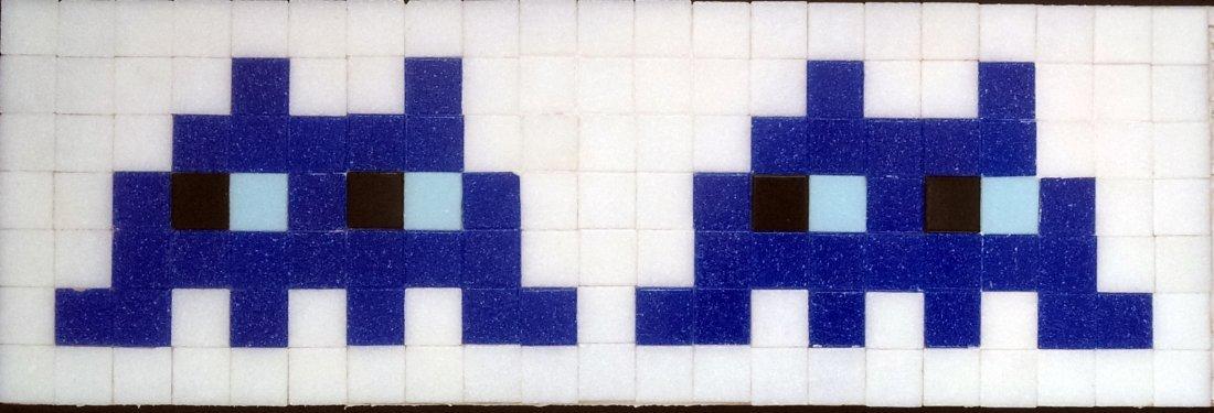 Space invader sculpture