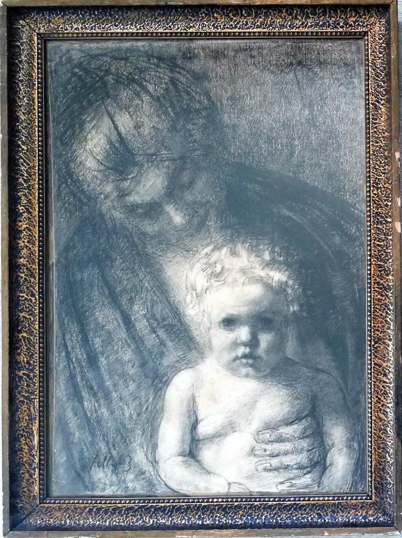 Kathe KOLLWITZ 1867-1945 - Charcoal drawing - 2