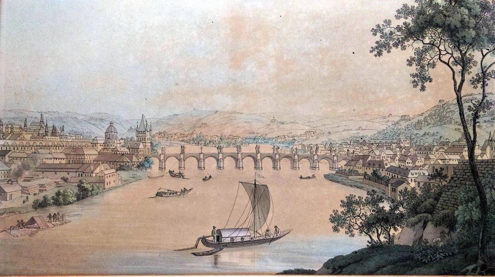 Unknown 19th Century artist - View on Prague